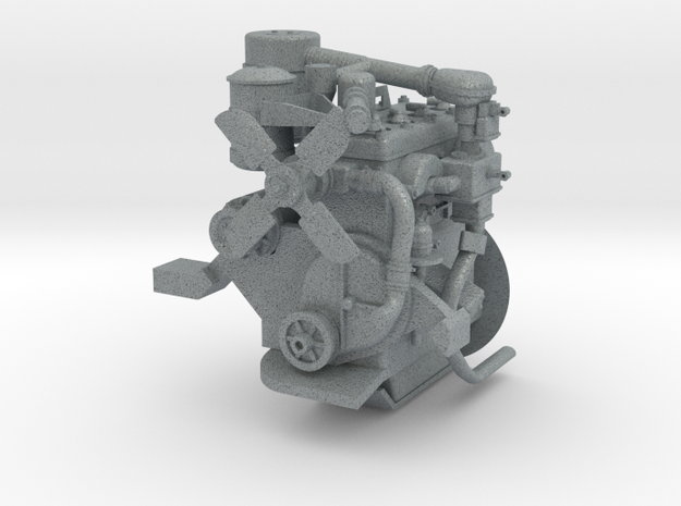 1:6 Continental Bantam Engine for 1:6 Jeep in Polished Metallic Plastic