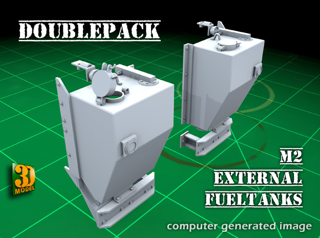 IDF M2 External Fueltanks (1:35) (2x) in Smooth Fine Detail Plastic