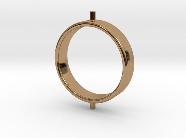 Gyroscope Ring, Inner in Polished Brass