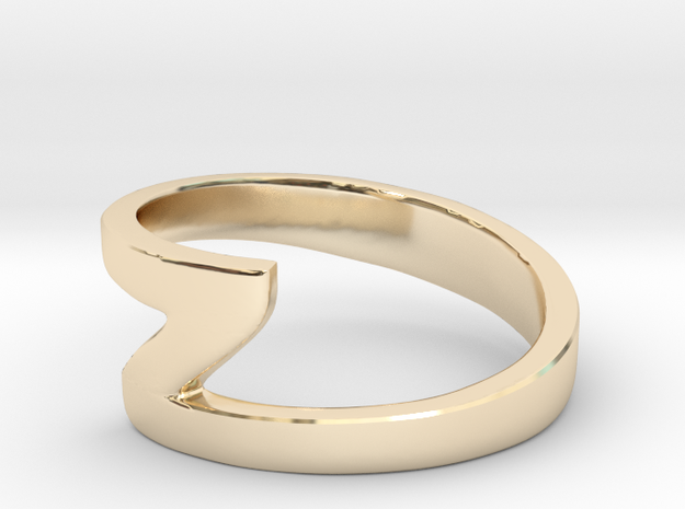 Zee Ring in 14K Yellow Gold