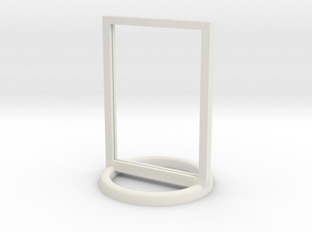 Token Frame Large in White Natural Versatile Plastic