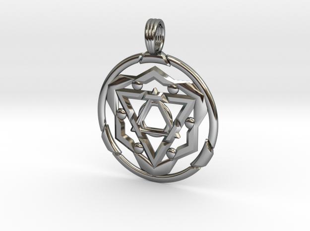 TRANSCENDANT SPIRIT in Fine Detail Polished Silver