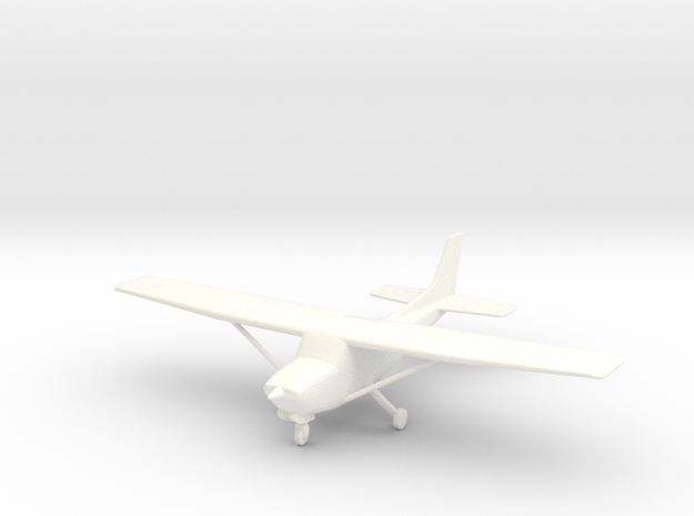 Cessna 172RG in 1/96 Scale in White Strong & Flexible Polished