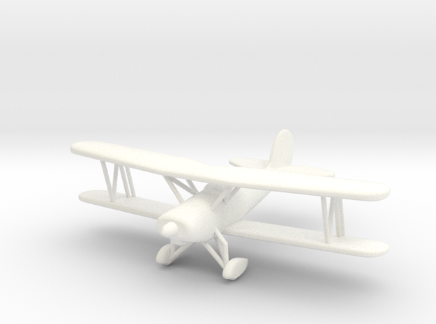 Great Lakes 2T-1A Biplane in 1/96 scale in White Strong & Flexible Polished