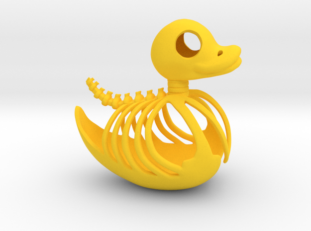 Rubber Ducky Skeleton in Yellow Processed Versatile Plastic