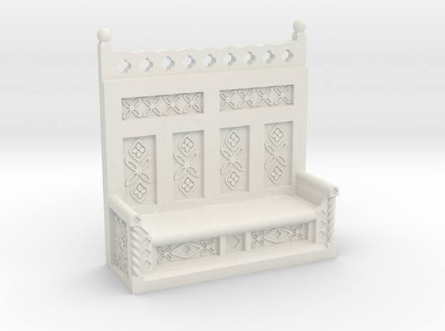 Monks Bench  in White Strong & Flexible