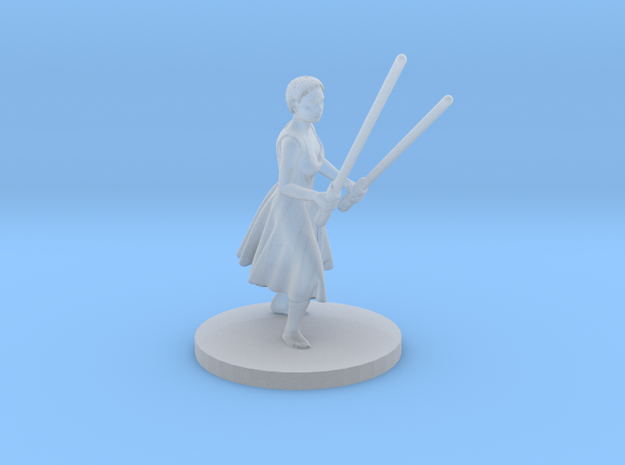 Irina with two lightsabers in Smoothest Fine Detail Plastic