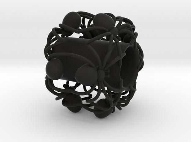 Spider pendant Charm 3D Model in Black Natural Versatile Plastic