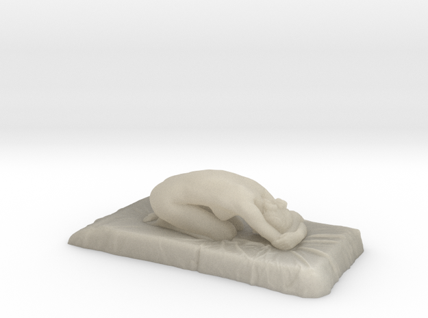 D. Face Down - 14cm wide - 1mm shell in White Acrylic