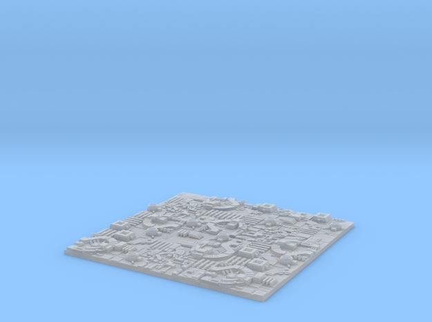 1/2256 Death Star Tiles in Frosted Extreme Detail