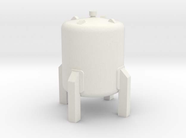 N Scale Small vertical tank in White Natural Versatile Plastic