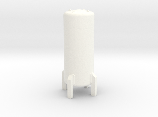 HO Cryogenic Tank ø20 H52mm in White Processed Versatile Plastic