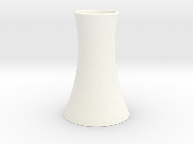 Vase 2 in White Processed Versatile Plastic