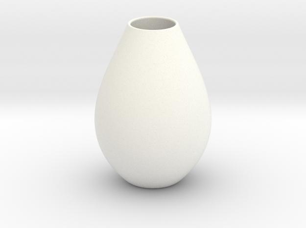 Vase 5 H Bis in White Processed Versatile Plastic