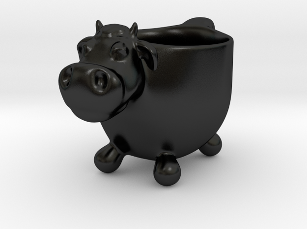 The cow, coffee cup