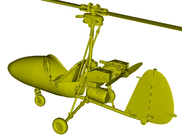 1/18 scale Wallis WA-116 Agile autogyro model kit