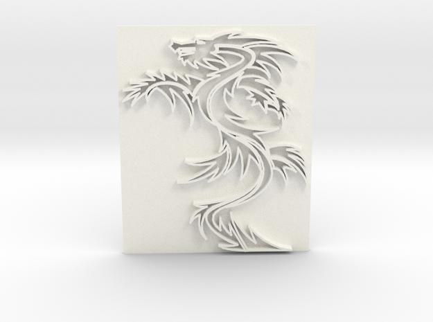 Dragon1 in White Processed Versatile Plastic