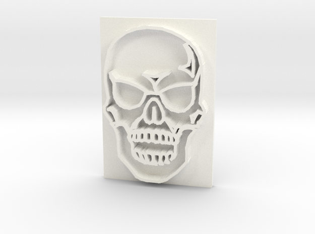 Skull in White Processed Versatile Plastic