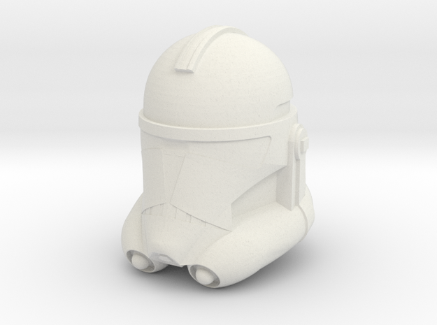 "Clone Trooper Helmet 6"" in White Strong & Flexible"