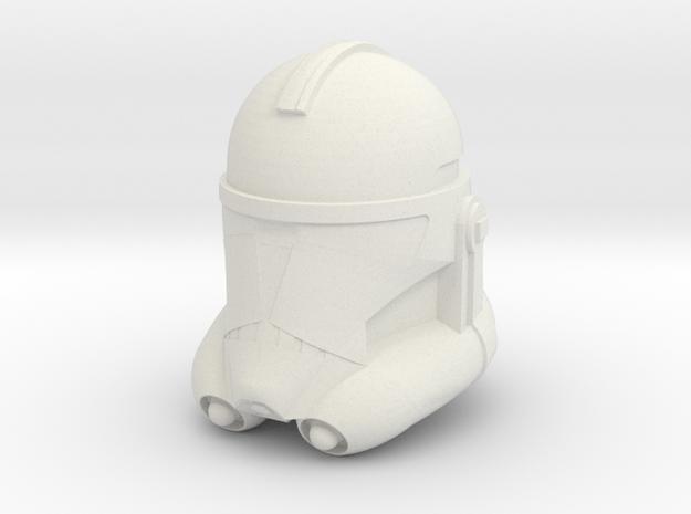 "Clone Trooper Helmet 6"" in White Natural Versatile Plastic"