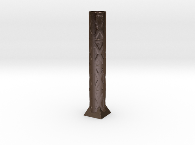 40x199 Beam Vase in Polished Bronze Steel
