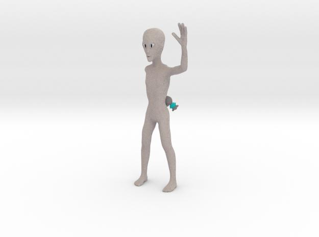 Friendly alien in Full Color Sandstone