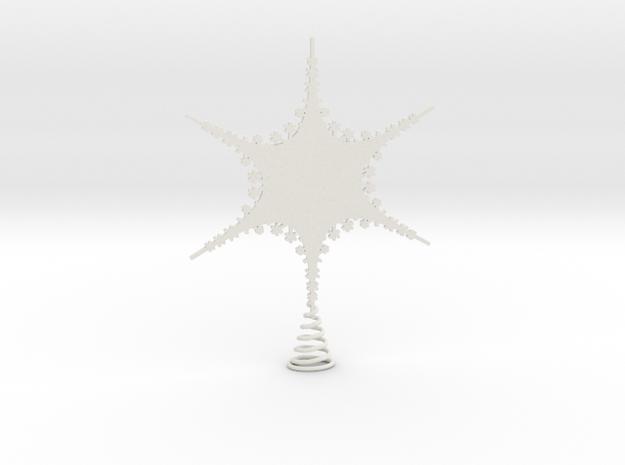 Sparkle Snow Star 2 - Fractal Tree - S in White Natural Versatile Plastic