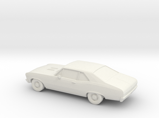 1/64 1969 Chevy Nova SS in White Natural Versatile Plastic