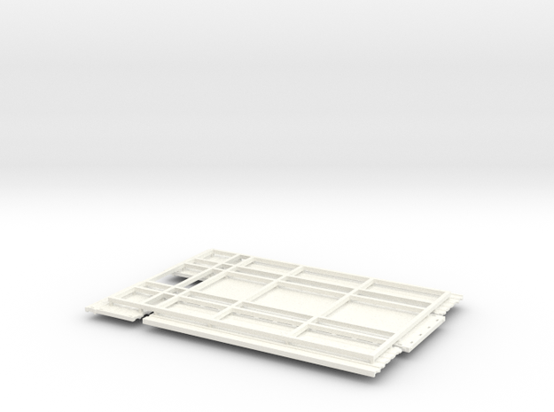 KN 24ft High side grain bed in White Processed Versatile Plastic