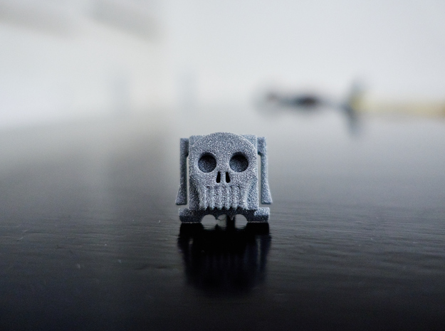 Skully hot shoe cover 3d printed