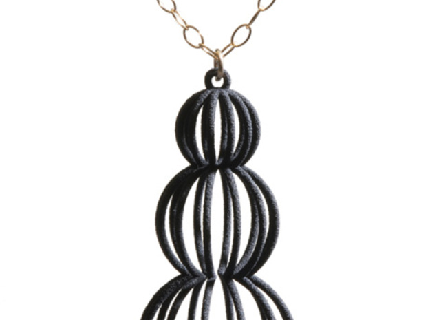 Mod Moire Pearl Pendant in White Strong & Flexible