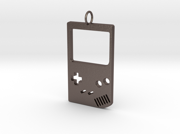 Gameboy in Polished Bronzed Silver Steel