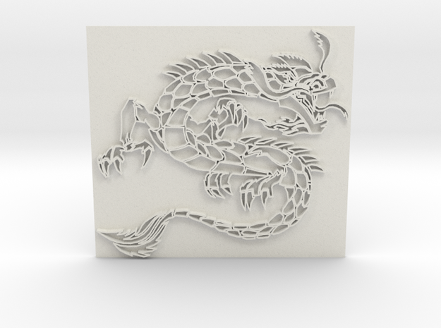 Dragon3 in White Natural Versatile Plastic