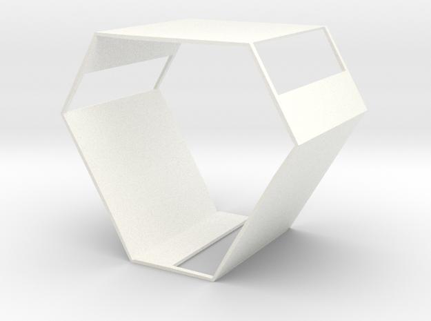 Capsule Windows in White Processed Versatile Plastic