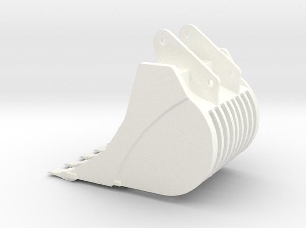 460 Skeleton bucket in White Processed Versatile Plastic