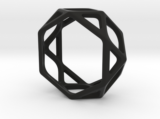 Structural Ring size 7,5 in Black Natural Versatile Plastic