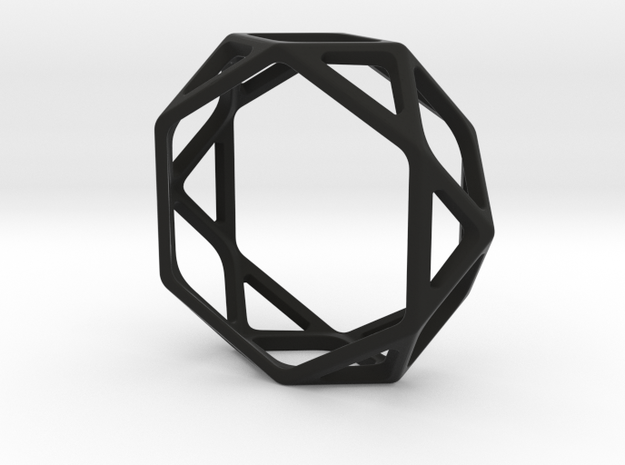 Structural Ring size 12 in Black Natural Versatile Plastic