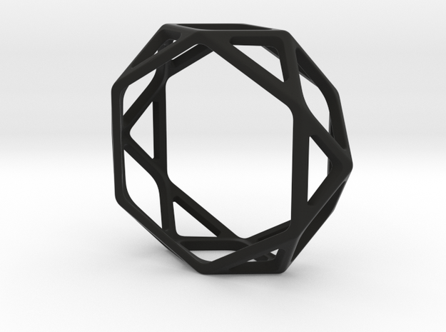 Structural Ring size 13 in Black Natural Versatile Plastic
