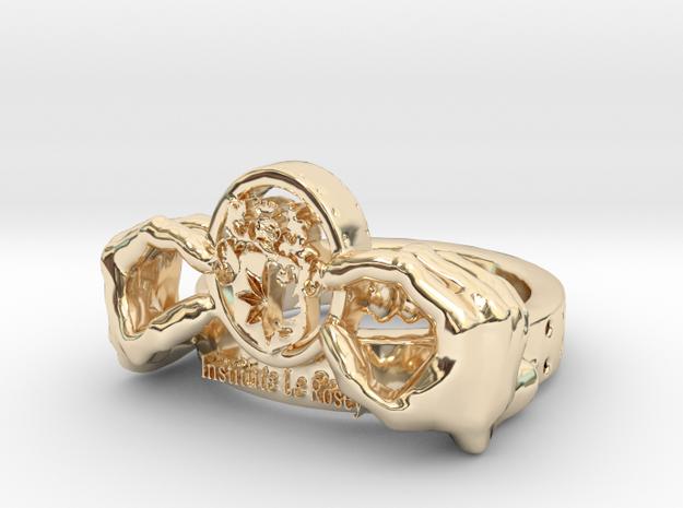 School Ring 4 Optim in 14K Yellow Gold