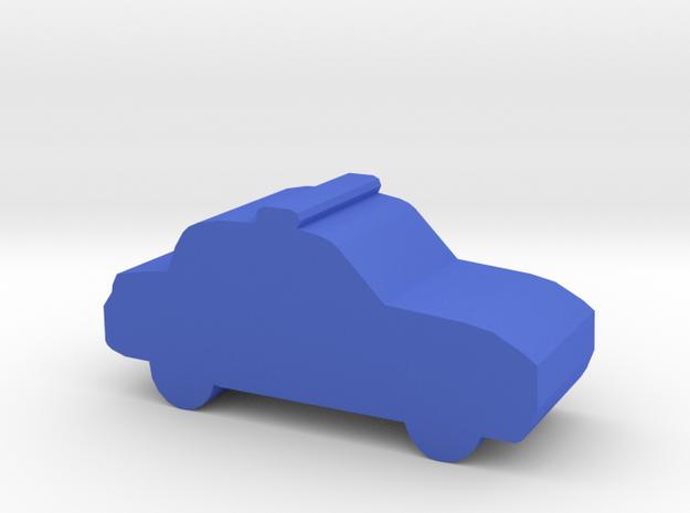 Game Piece, Police Cruiser in Blue Processed Versatile Plastic