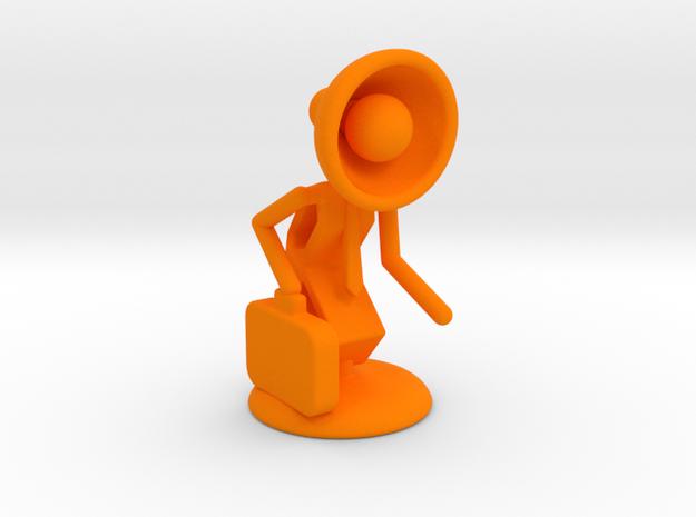 "Lala as ""Executive Manager"" - DeskToys in Orange Processed Versatile Plastic"