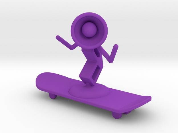 Lala - Skating - DeskToys in Purple Processed Versatile Plastic