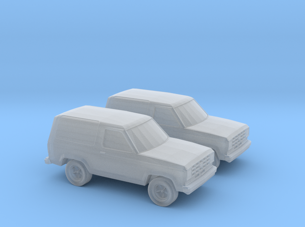 1/160 2X 1987 Ford Bronco II in Smooth Fine Detail Plastic