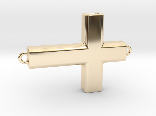 Horizontal Cross in 14K Gold