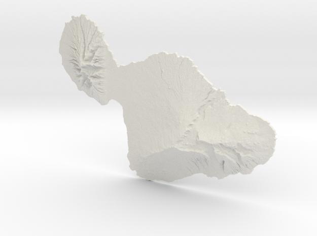 Maui, 1:250000, Navigator Series in White Natural Versatile Plastic