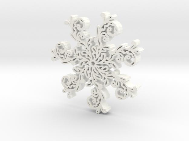 Snowflake2b in White Processed Versatile Plastic
