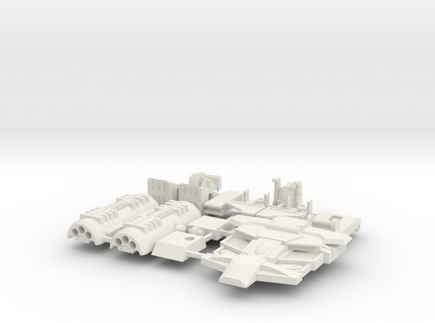 Flame-o Parts (Whole Kit without Gun)  in White Natural Versatile Plastic
