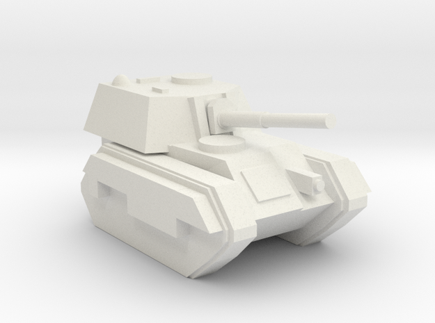 [5] Self-Propelled Howitzer (Enclosed) in White Natural Versatile Plastic