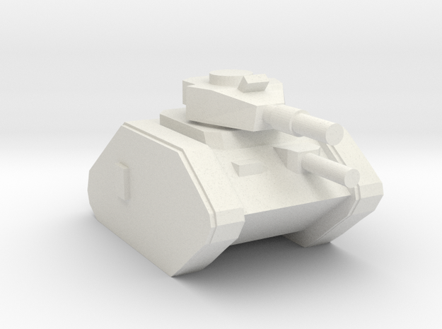 [5] Main Battle Tank in White Natural Versatile Plastic