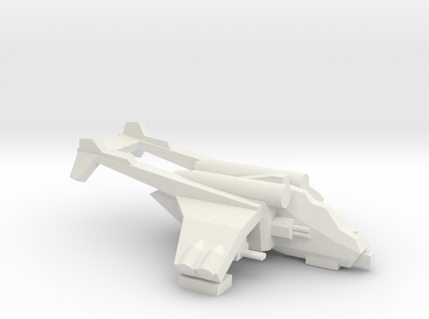 [5] Anti-tank Gunship in White Natural Versatile Plastic